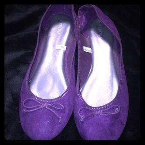 Merona Purple Suede Ballet Flats Size 9 Slip On
